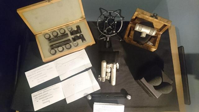 Micros: Shure Sm7, Oktava Mk012,modulos Oktava, Audio-technica AT