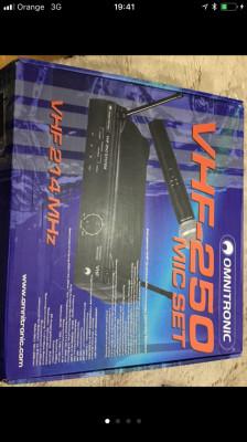 Omnitronic vhf 250 micro inhalambrico
