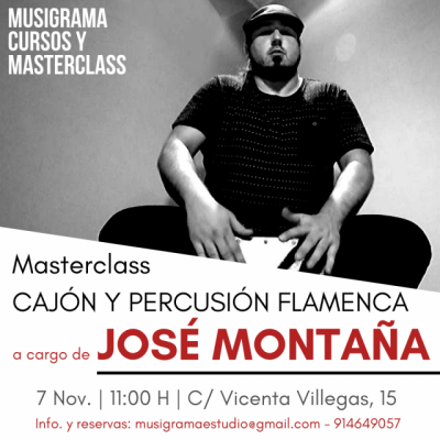 MASTERCLASS CAJÓN Y PERCUSIÓN FLAMENCA POR JOSÉ MONTAÑA