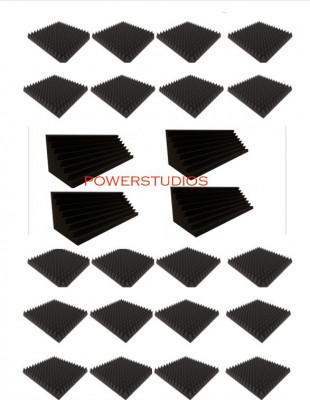 Promoción kit 20 Paneles Acústicos 49x49x7cm+4 trampas 100x30x30`nuevos en stock envío incluido