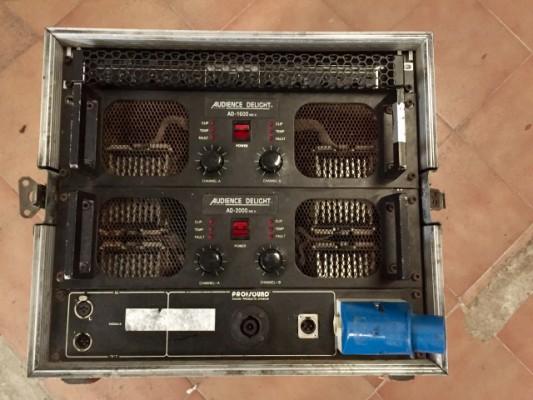 Racks con amplificación y crossover