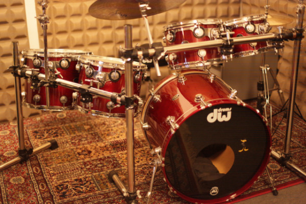 "KIT BATERIA DW COLLECTOR'S SERIE ""ALL BIRCH"" LAQUER RED WINE"