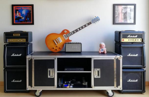 Mueble cinema Flightcase para ambientes rock o heavy