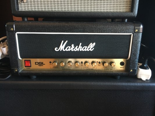 o Vendo:  Cabezal Marshall DSL 15 H impecable y caja G12 Mshall