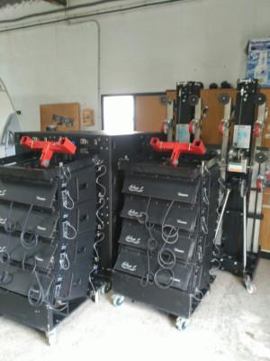 Line array + torres elevadoras + cableado necesario