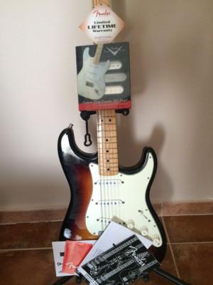 Fender strato mexico con pastillas custom shop 69 envío incluido