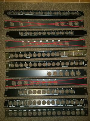 Panel para rack XLR 1U