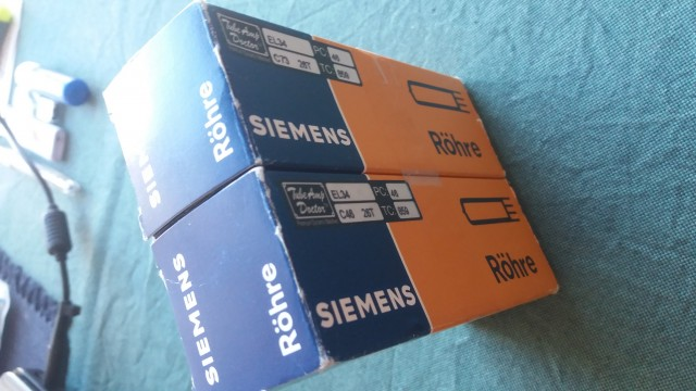 Pareja válvulas NOS EL34 Siemens (Tube Amp Doctor) Perfectas.