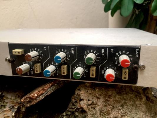 Ecualizador stereo Solid State Logic SSL 5000, 2 módulos SL 502 enrackados