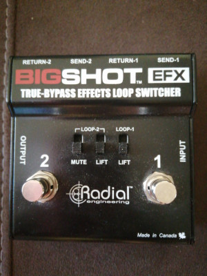 Radial Big Shot EFX True bypass selector loop de efectos