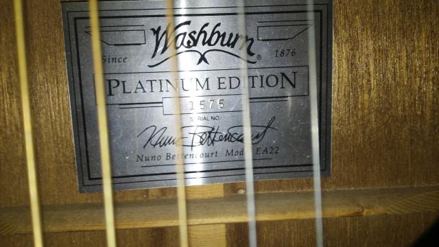 Washburn festival series Nuno bettencourt  ea22 platinum Limited