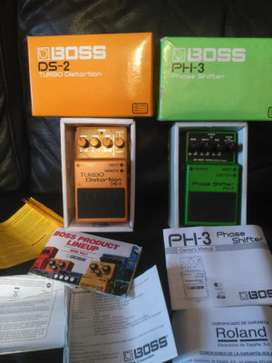 Vendo Pedales Boss DS-2 y PH-3