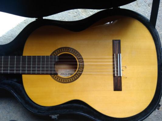 Guitarra flamenca Martínez con estuche y pastilla schaller, envío incluido