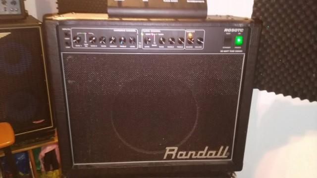Ampli a Valvulas Randall Rg 50 Tc , sonidazo . 350 e .