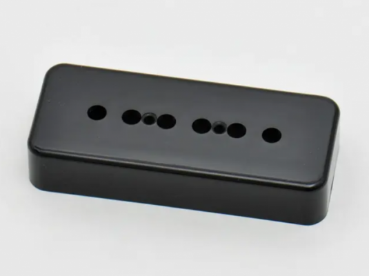 Cubiertas de pastillas P90 marca Göldo, color negras, nuevas
