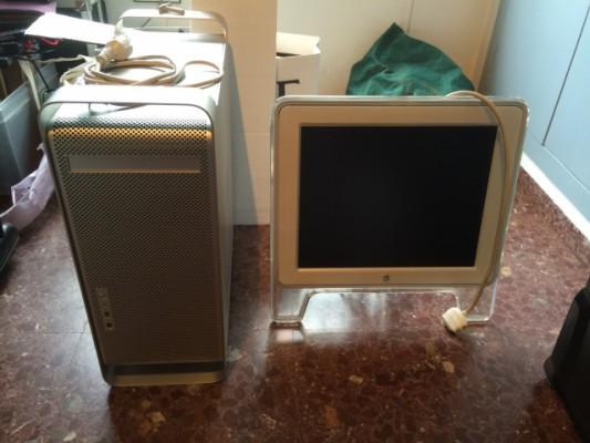 """Vendo todo por 90€ Mac G4 y G5 1.8 dual fuente rota con Cinema Display 17"""""""