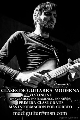 Clases online de guitarra moderna