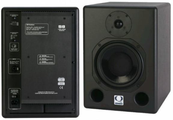 Monitores altísima gama quested s8r, a estrenar, cuidado, precio por pareja. vendidos