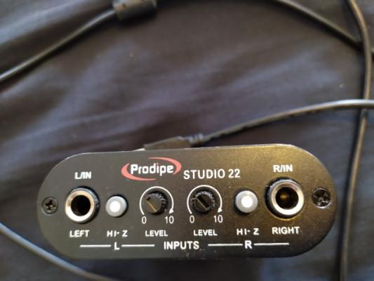 Tarjeta de sonido USB Prodipe studio 22.