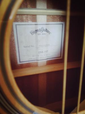 Guitarra acústica Sigma DM-1ST