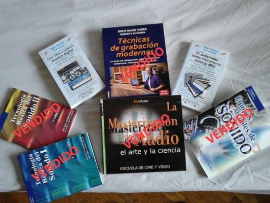 Lote de libros de grabación y mastering