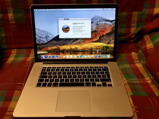 Macbook pro retina 15 pulgadas