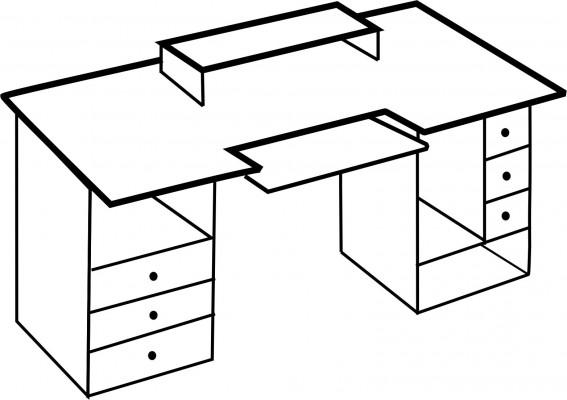 Vendo cambio mesa mueble de estudio en ja n hispasonic - Muebles para estudio de grabacion ...