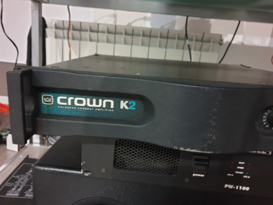 db etapa potencia CROWN K2 800w x2 4ohm ideal para estudios o producir ya que no se calienta