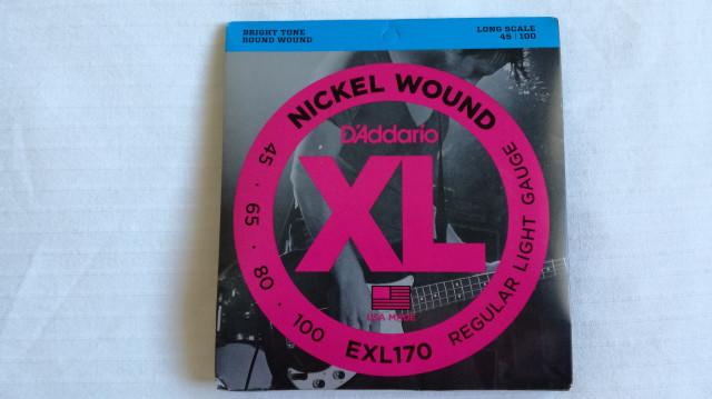 cuerdas Daddario EXL170 bajo nuevas
