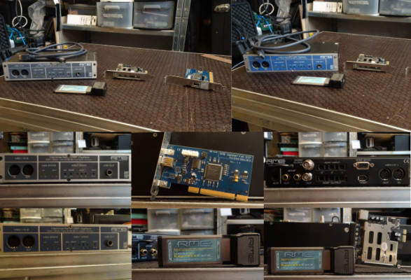 Dos RME Digiface-con dos Hammerfall PCI + 1 RME HDSPe express card y PCIe a express card.