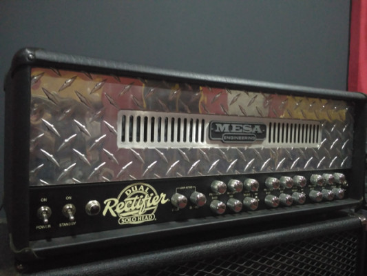 Mesa boogie Dual rectifier 3 channel head 100 watt tube guitar amp