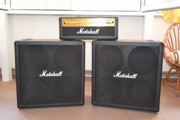 Amplificador Marshall MG100HDFX + 2 Pantallas Marshall 4x12 MG412B
