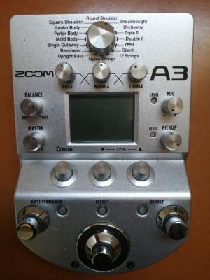 Previo guitarra acústica, Zoom A3 - perfecto estado, porte pagado -