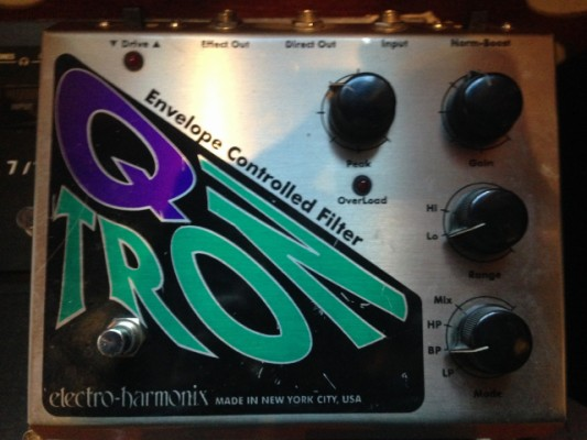 Vendo:Pedal Electroharmonix/Filtro controlado por envolvente Qtron VINTAGE