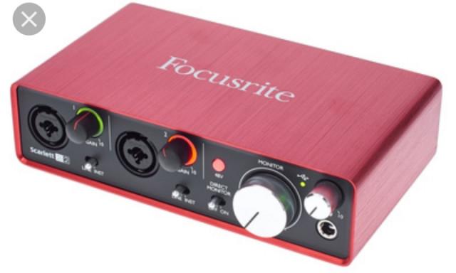 Interface focusrite 2i2 2 generación