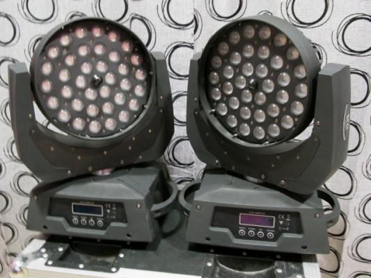 Cabezas Móviles WASH ZOOM 36X12W
