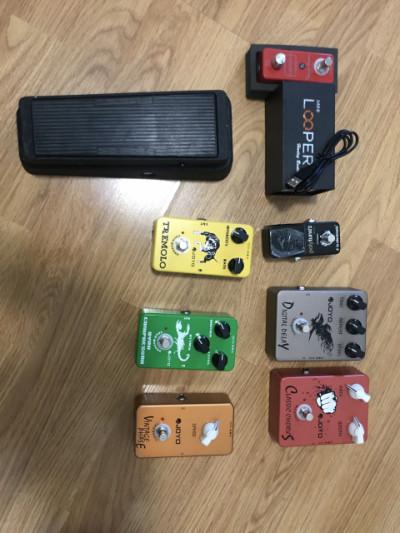 Pack pedales de guitarra