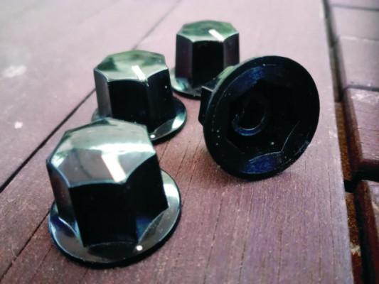 4 BOTONES DE POTENCIÓMETRO MXR - FENDER JAZZ BASS / JAGUAR (knobs)