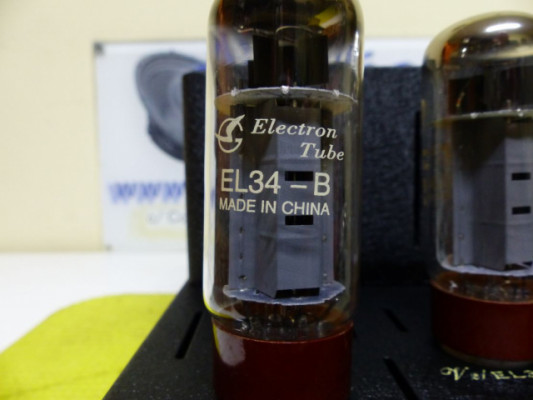 Amplificador todo válvulas EL-34 / 40+40 watts rms