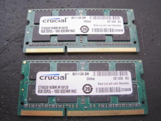 8Gb RAM PC3-12800 Mac