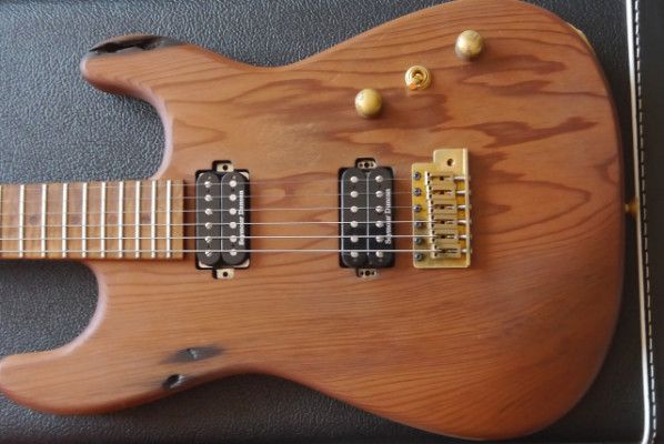 Charvel Custom Shop Carbonized Recycled Redwood San Dimas