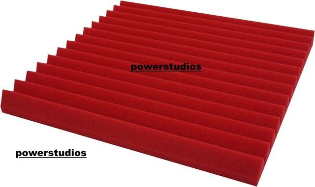 Promoción-20 Paneles studio foam wedge red 50x50x5cm¡Nuevos en stock!