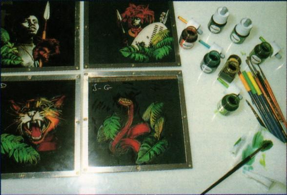 Proyeccione originales hechas a mano usadas por Jean Michel Jarre