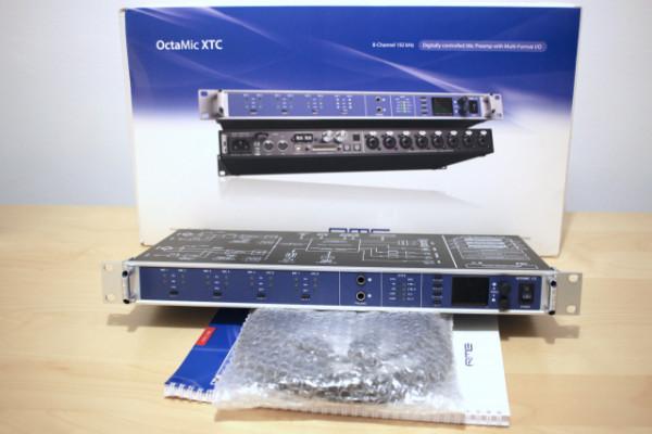 RME Octamic XTC - 8 previos de micro e Interface