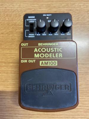 Pedal simulador guitarra acústica Behringer AM100
