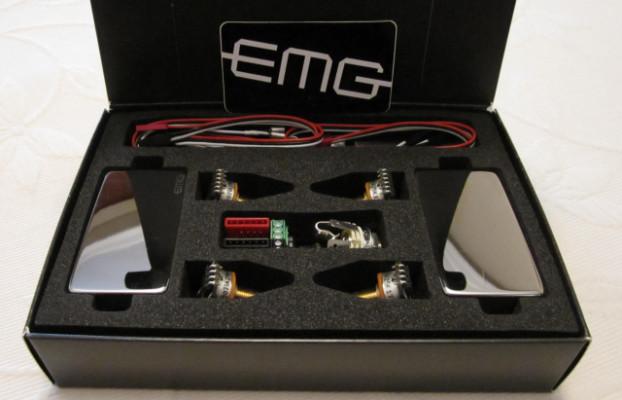 """Dos Pastillas EMG 81 Cromadas + Electrónica """"Solderless"""" Completa"""