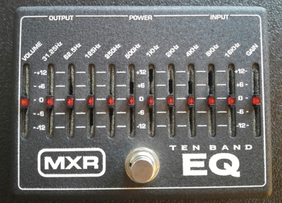 [RESERVADO] Pedal ecualizador MXR 10 band equalizer
