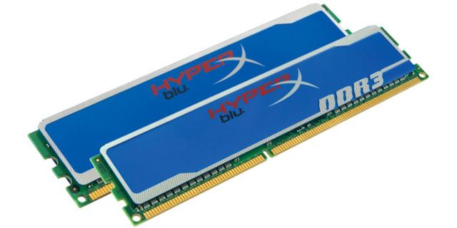 8 GB RAM Kingston HyperX Blu DDR3 2x4 GB