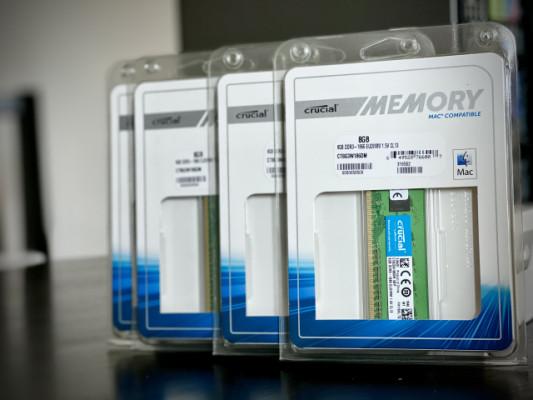 32Gb de Memoria Ram Crucial Mac Pro 6.1