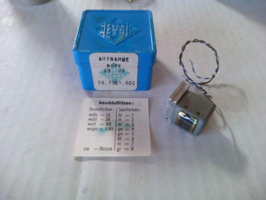 Cabeza de grabacion magnética Telefunken Modelo-AB08.